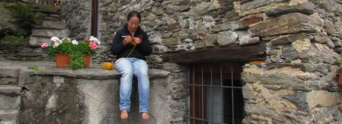 Stella Melgrati from The Yarn Kitchen at work in Italy