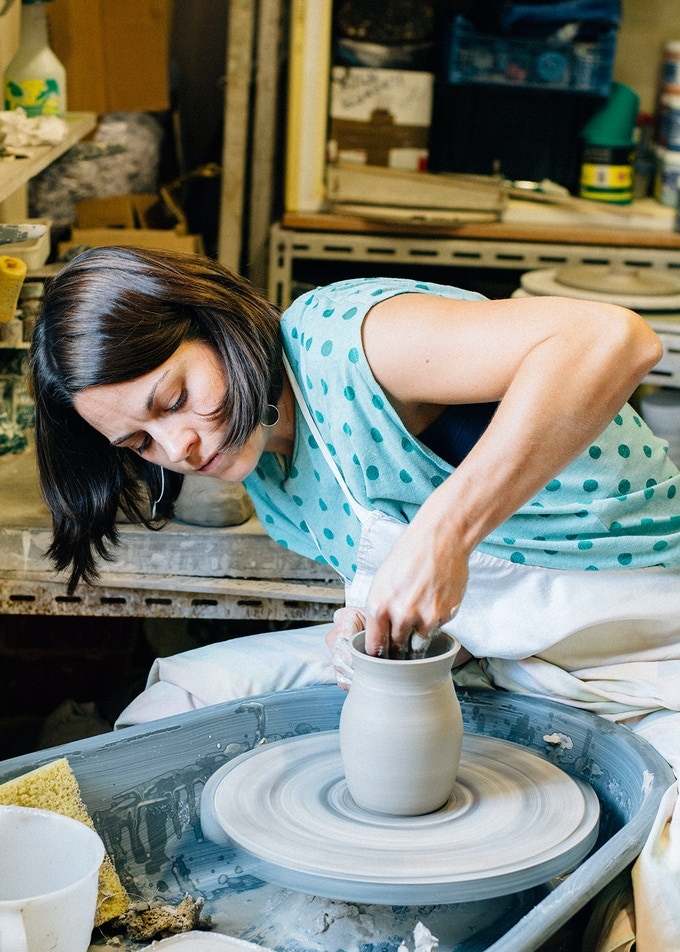 Jennifer Hamilton from The Village Pottery will create gorgeous turquoise mugs for the Authentically.co Kickstarter campaign