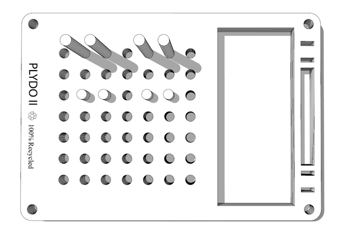 LaserCut IDEAs PLYDO Desk Oragniser II 2.0 by Yang CHEN