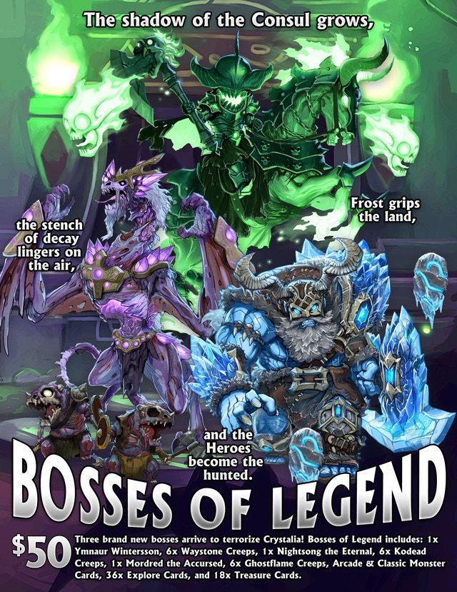 Please Note That There Was An Error In A Recent Newsletter Listed This Item As Free Bosses Of Legend II Is NOT And Only Available 50