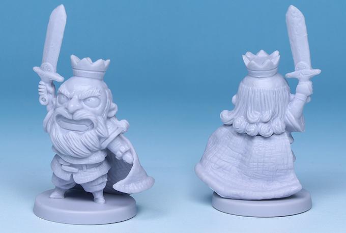 Production plastic miniature of King David III.