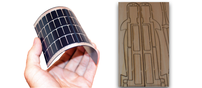Flexible Solar Panel and Eco-friendly Balsa Wood Frame