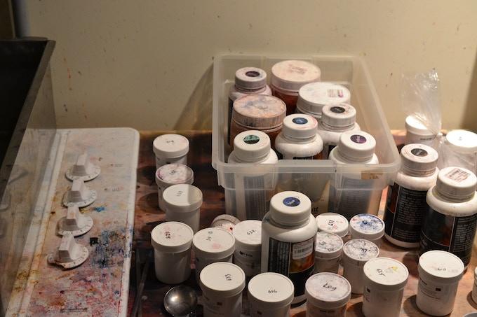 dark and cramped old studio