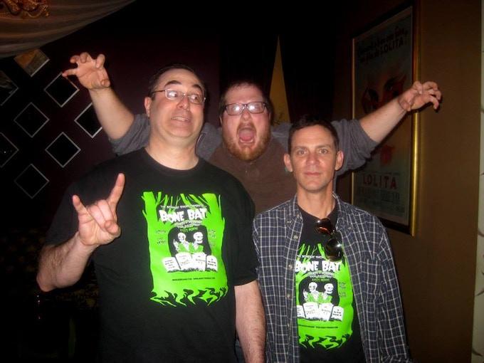 Steve and Gord with filmmaker James Ashby of SMBC at the 2012 BoneBat Film Fest.