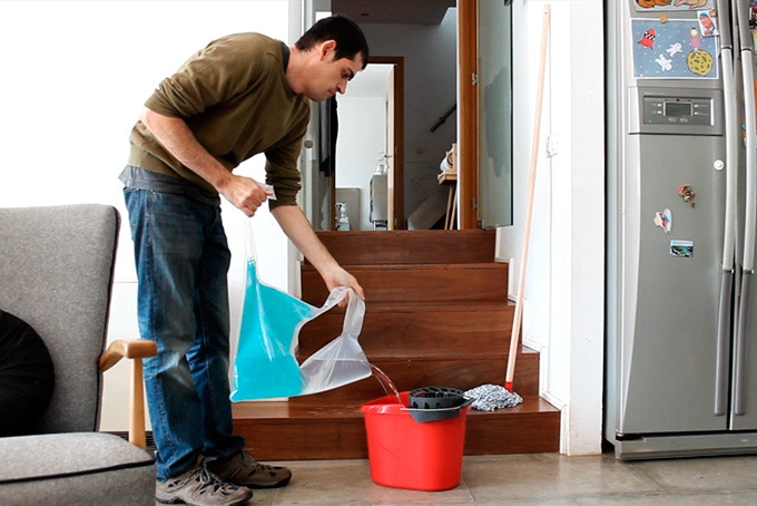 You can also use your recaptured water for cleaning around the house.