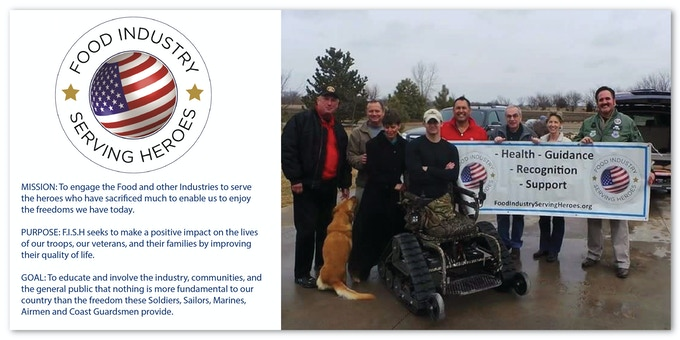 F.I.S.H. is a not for profit organization that supports our veterans. Your contribution can fund a set of M+D Crutches for a wounded hero and drastically improve his or her life.