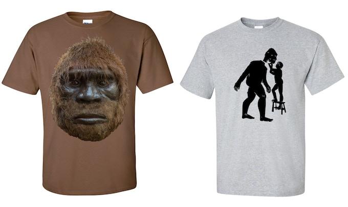 2 shirt options. Both say BigFurMovie.com across the shoulders, on the back.