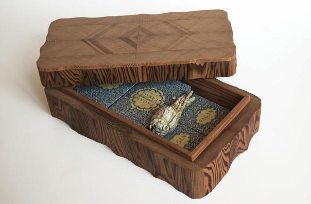 Uusi Pagan Valhallah Box / reclaimed, old-growth redwood