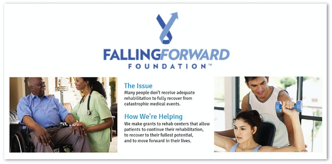 Falling Forward Foundation helps people receive the necessary therapy to recover from traumatic injuries.