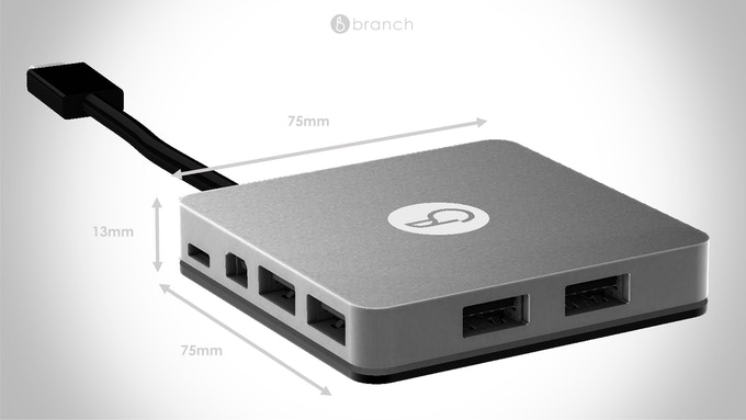 At 13mm, Branch is as only thick as the new Macbook…