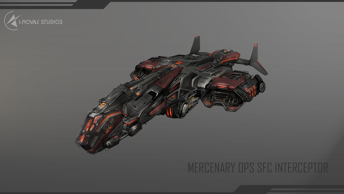 A concept of the Kickstarter exclusive Mercenary Operative Interceptor