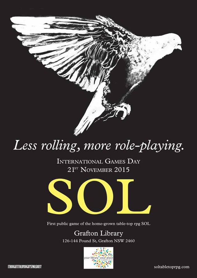 SOL poster for Grafton Library NSW Australia
