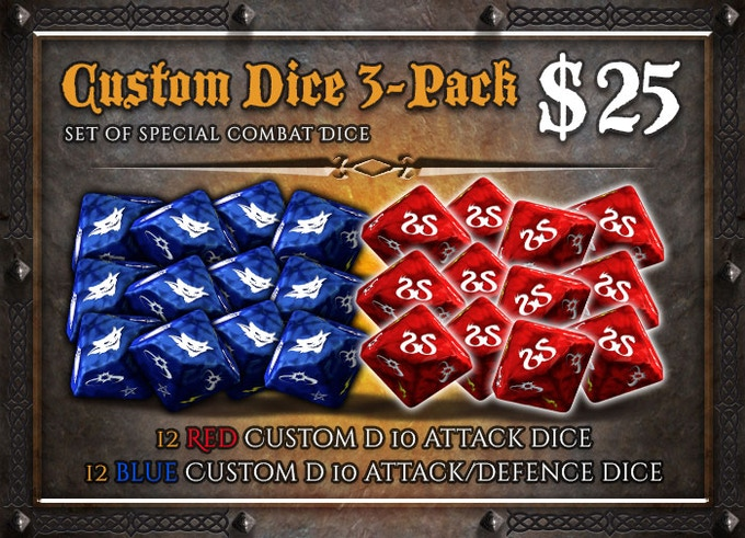 Three additional sets of dice, to play comfortably with a high number of players.