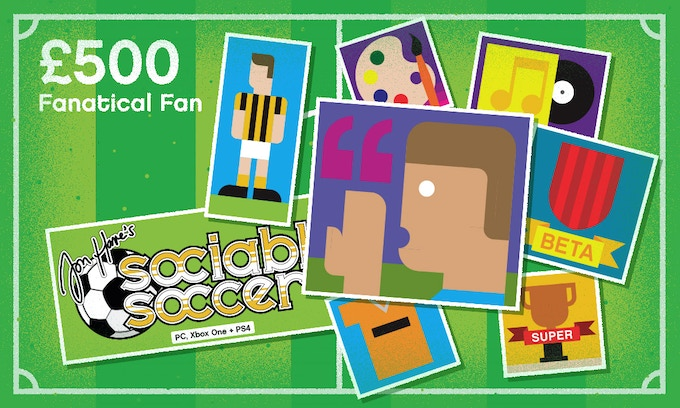 £500 – FANATICAL FAN – All previous rewards plus: A quote from you to appear in the credits of the game as the true words of a fan of the club or country of your choice (Content to be vetted by the team before publication)