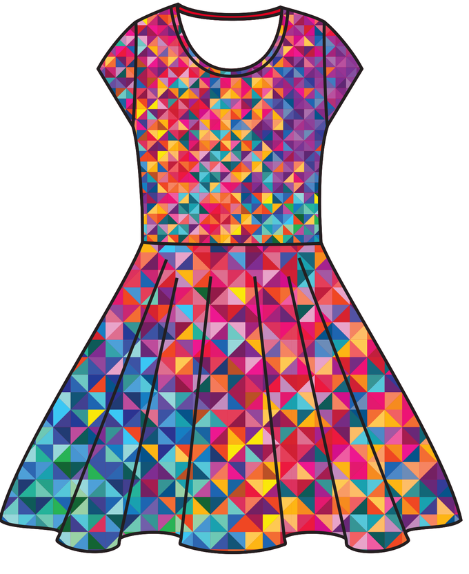 Illustration, Your Favorite Dress in multi print