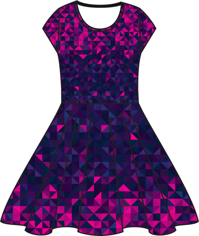 Illustration, Your Favorite Dress in galaxy print (KICKSTARTER EXCLUSIVE DESIGN)