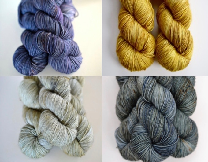 from top left: Blot, Mustard Seed, Ghost and Sea Storm