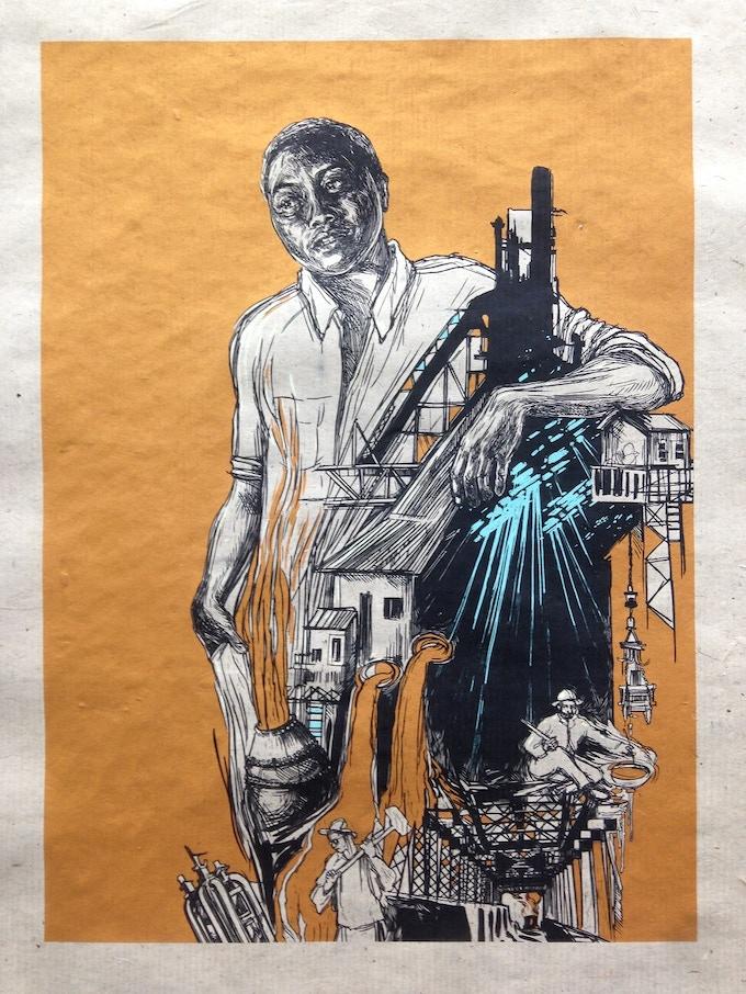 Just added!  Swoon - Braddock Steel silkscreen print
