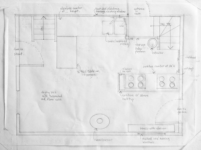 floor plan of the new studio!