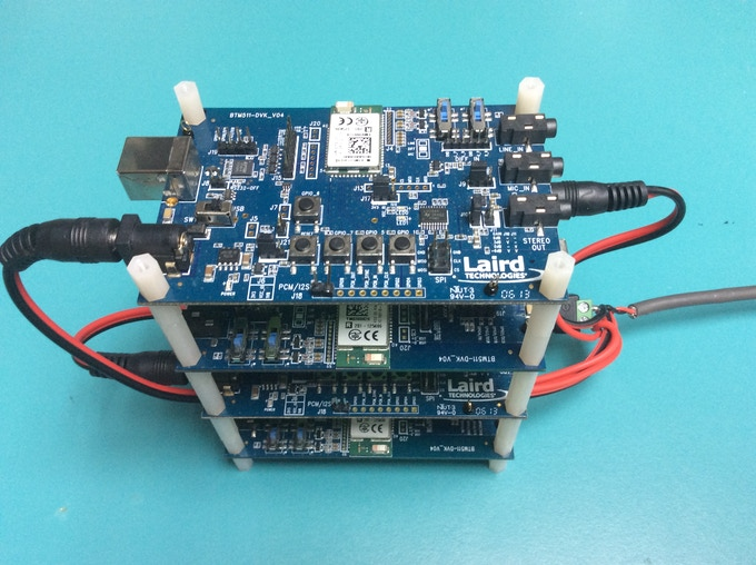 First prototype using Bluetooth development boards