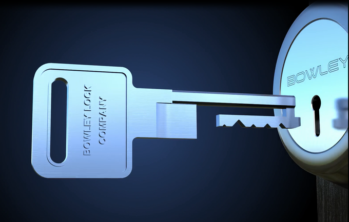 Computer Generated Image of the Coolest Lock and Key Ever