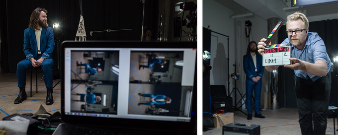 Moments on set from the first Blackout shoot at New Inc.