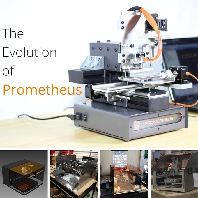 Four different prototypes preceded this current version of Prometheus, which we are finally proud of.