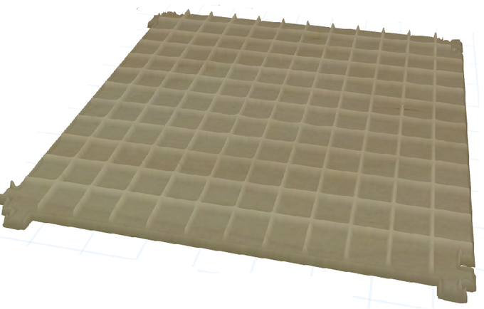 Tactile grid for RPG games render