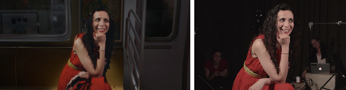 Capturing with DepthKit allows us to place real people into the virtual train.