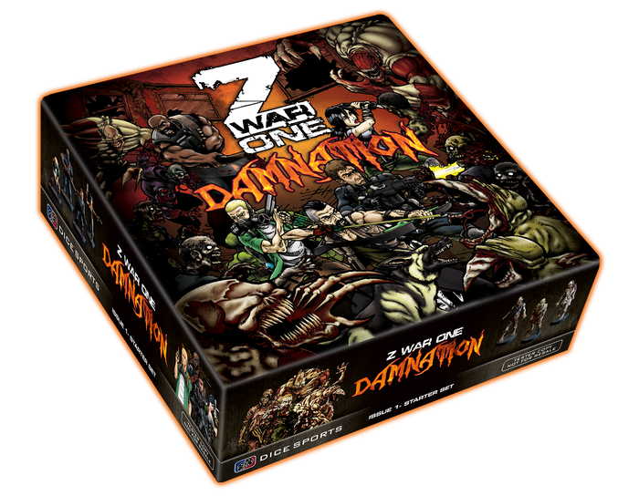 Z War One - Damnation is the world's first episodic, comic book miniature board game.
