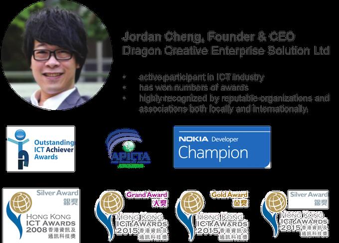 CHENG Man Fai, Jordan - Founder & CEO of Dragon Creative Enterprise Solution Ltd