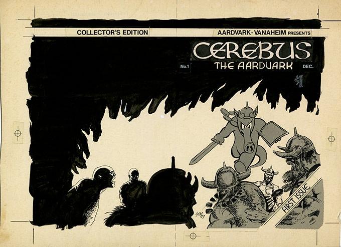 BP 39 - Cerebus No.1 cover (1977)