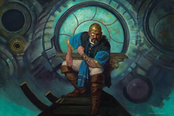 """""""Ardeyn Master"""" © Monte Cook Games LLC, Art by Matthew Stawicki"""