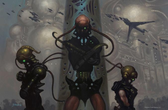 """The Hub"" © Monte Cook Games LLC, Art by Matthew Stawicki"