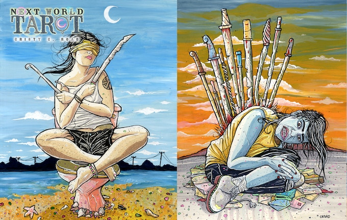 The 2 of Swords and The 10 of Swords