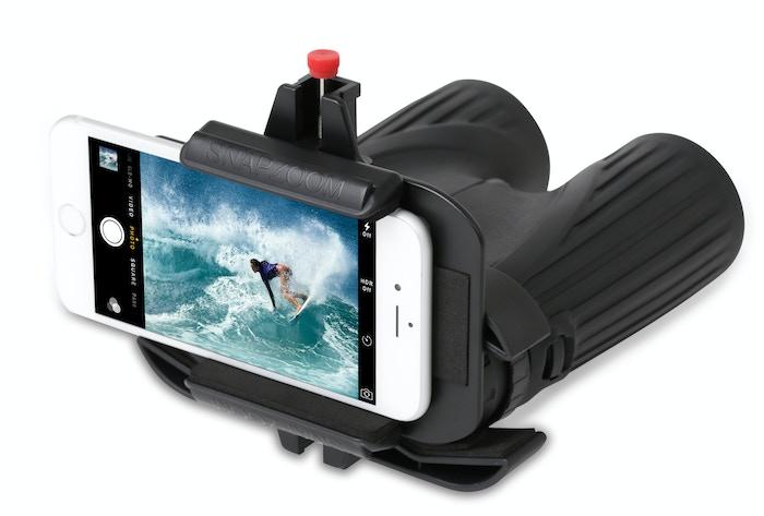 Snapzoom turns ordinary optics like binoculars into super telephoto lenses for your smartphone.