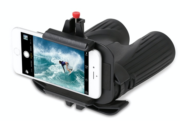 Snapzoom turns ordinary optics like binoculars into super telephoto lenses for your smartphone.