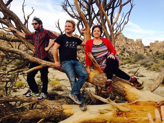 Welland, Nolan and Scarlet at Joshua Tree