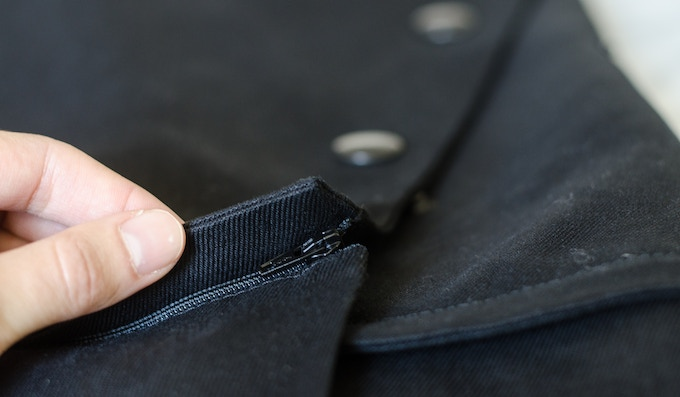 The bottom portion zips off cleanly (and easily!).