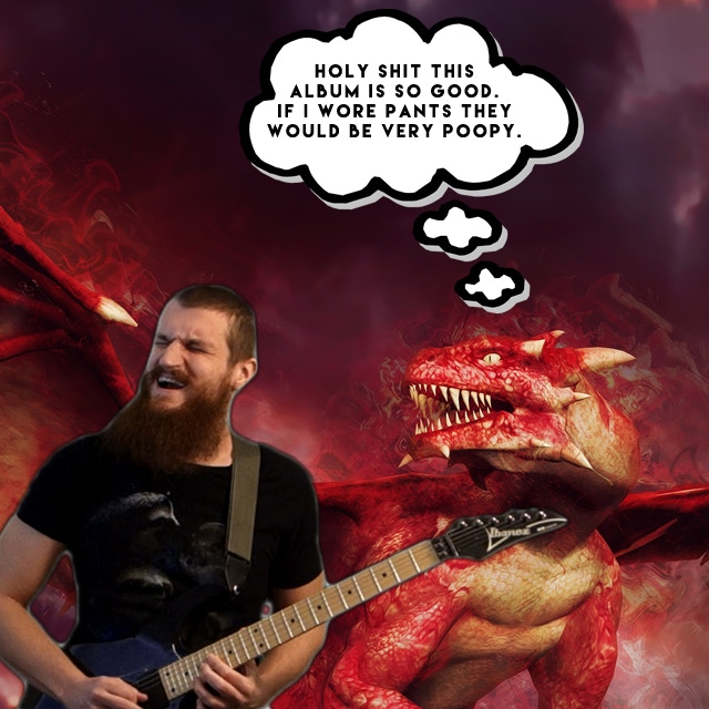 Daniel's pet dragon is hyped on the new album.