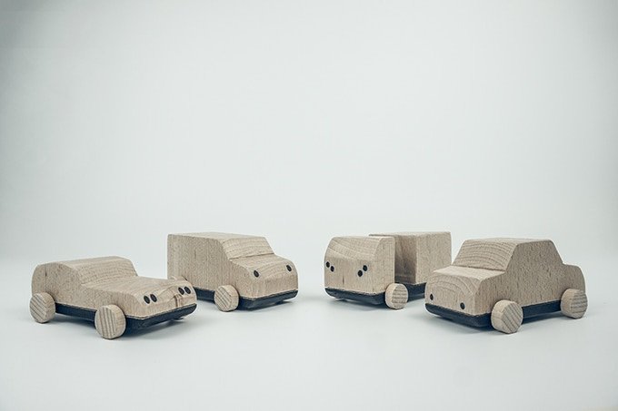 Four mini models. Sport, Classic, Van and Truck