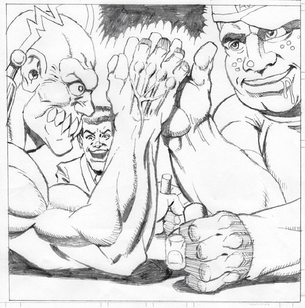 Arm Wrestling Action!