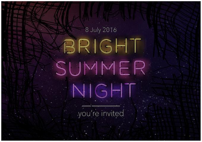 Bright Summer Night Invitation (designed by Robbie Nicol)