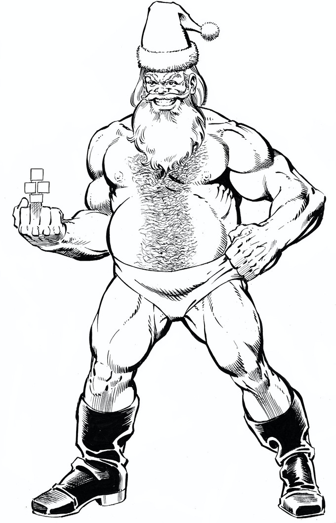 Santa Claws Pro-Wrestler From Strength Monsters In Christmas Tree Delivery