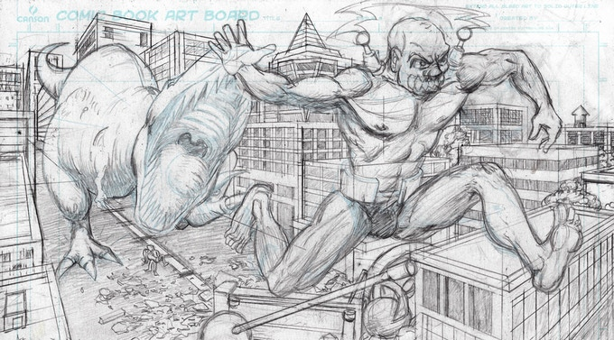 Panel From Strength Monsters Issue 2 Ultra-Mayhem!