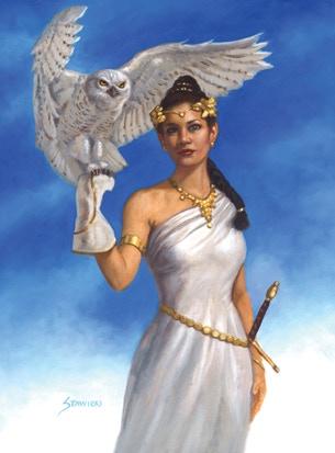 """Athena"" 2015 Commission Reward, art by Matt Stawicki"