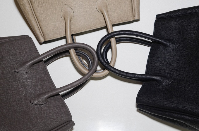 Michelle bags in black, slate and light grey