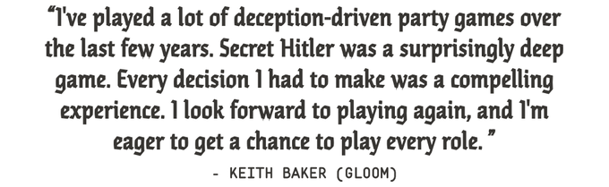 Secret Hitler By Max Temkin Kickstarter