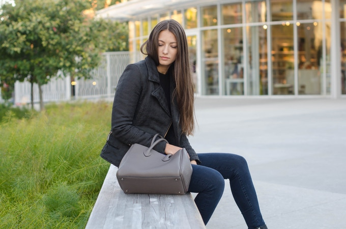 Michelle bag in slate color