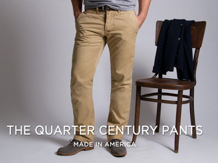 HELP US MAKE A BETTER PAIR OF PANTS: Made in America and backed by a 25 year guarantee.
